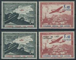 LEGIONÄRSMARKEN II-V **, 1941/2, Flugpostvignetten, Postfrisch, 4 Prachtwerte, Mi. 140.- - Besetzungen 1938-45