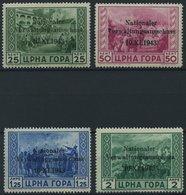 MONTENEGRO 10-13 **, 1943, 25 C. - 2 L. Nationaler Verwaltungsausschuss, 4 Prachtwerte, Mi. 180.- - Besetzungen 1938-45