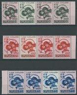 SERBIEN 55-57AIII,IV **, 1941, 1 - 4 D. Kriegsgefangene, Je In Viererkombination Mit Nr. II Und AI, Postfrisch, Pracht - Occupation 1938-45