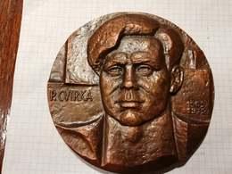 Lithuania USSR Petras Cvirka, Soviet Writer, Medal 13 Cm - Jetons & Médailles