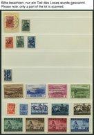 SAMMLUNGEN U. LOTS O,BrfStk,**, *, überwiegend Gestempelte Sammlung Bes.Geb.II Von 1939-45, U.a. Mit Elsaß, Kurland, Lot - Occupation 1938-45