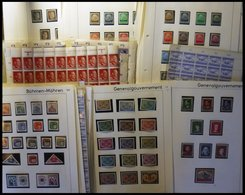 SAMMLUNGEN U. LOTS *,o,** , 1939-45, überwiegend Ungebrauchte Sammlungen Böhmen Und Mähren, Generalgouvernement, Elsass, - Besetzungen 1938-45