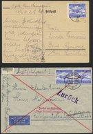 FELDPOSTMARKEN 1A/B BRIEF, 1942/3, Luftfeldpost, 3 Verschiedene Bessere Belege, Pracht - Besetzungen 1938-45