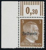 FELDPOSTMARKEN 17z **, 1945, 3 Pf. Ruhrkessel, Senkrechte Gummiriffelung, Postfrisch, Pracht, Mi. 70.- - Occupation 1938-45