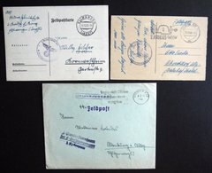 1938/40, 3 Verschiedene SS-Feldpostbelege Aus Ellwangen, Dresden Und Berlin, Fast Nur Pracht -> Automatically Generated  - Besetzungen 1938-45