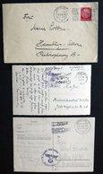 1939/42, 3 Verschiedene Belege Totenkopf-Verband Und SS Ersatz-Batl.Ost, Pracht -> Automatically Generated Translation:  - Besetzungen 1938-45