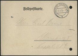 FELDPOST II. WK BELEGE 1939, Benachrichtigungskarte über Zuteilung Der Feldpostnummer, Stempel DÖBERITZ ÜBUNGSPLATZ, Gel - Besetzungen 1938-45