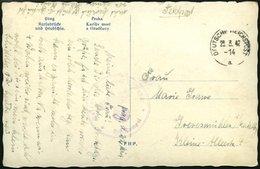 FELDPOST II. WK BELEGE 1942, Feldpostansichtskarte Aus Prag Mit Maschinenstempel DFUTSCHE REICHSPOST, Pracht - Occupation 1938-45