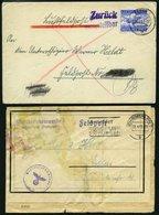 FELDPOST II. WK BELEGE 1943, 2 Verschiedene Feldpostbelege Aus Dem Kessel Um Stralingrad: Luftpostbrief Zurück Unzustell - Besetzungen 1938-45