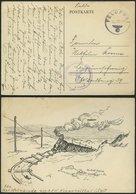 FELDPOST II. WK BELEGE 1943, Feldpostkarte Aus KLAPPHOLTTAL/Sylt Mit Seltenem Provisorischen Feldpoststempel, Pracht, R! - Occupation 1938-45