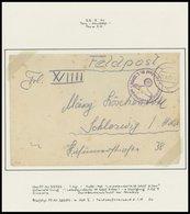 1941, Leibstandarte SS Adolf Hitler, 4 Verschiedene Feldpostbriefe (Fp-Nr. 33752) Aus Der Vormarschzeit Auf Moskau (3x Z - Besetzungen 1938-45