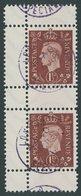 PROPAGANDAFÄLSCHUNGEN 5ZS O, 1944, 11/2 P. König Georg VI Im Senkrechten Zwischenstegpaar, Pracht - Besetzungen 1938-45