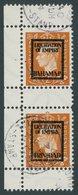 PROPAGANDAFÄLSCHUNGEN 12IVf,eZS O, 1944, 2 P. König Georg VI, Aufdruck Bahamas Und Trinidad Im Senkrechten Zwischenstegp - Occupation 1938-45