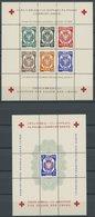LAGERPOST II.WK (*), 1945, Polnische Lagerpost Dachau - Allach, 2 Verschiedene Rotes-Kreuz Blocks, Wie Verausgabt Ohne G - Besetzungen 1938-45