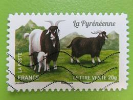 Timbre France YT 1104 AA - Faune - Les Chèvres De Nos Régions - La Pyrénéenne - 2015 - Adhesive Stamps