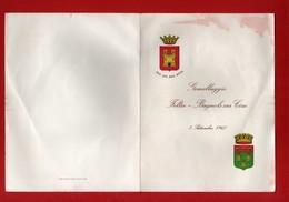 Pieghevole. 1961 - Gemellaggio TRA Città Di FELTRE E Bagnols Sur Lèze - 03/09/1961.  Vedi Descrizione. - 6. 1946-.. Repubblica