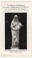 Santino Antico Madonna CUORE IMMACOLATO DI MARIA DA FABRIANO - ANCONA - Religione & Esoterismo