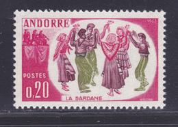 ANDORRE N°  166 ** MNH Neuf Sans Charnière, TB (D8560) Folklore Andorran, Danse - 1963 - Andorre Français