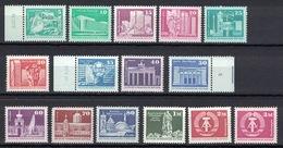 DDR 1980 + 1981, Freimarken Aufbau Kleinformat **, MNH - Nuovi