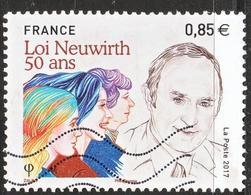 """LOTE 1829   ///   (C015)  FRANCE Nouveauté De 2017 """"loi Neuwirth"""" Oblitérée - France"""