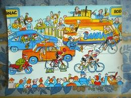CPM TOUR DE FRANCE 1984 13 EME ETAPE  BLAGNAC RODEZ  Pub BANANIA - Cyclisme