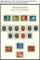 SAMMLUNGEN **, überkomplette Saubere Postfrische Sammlung DDR Von 1949-90 In 7 Leuchtturm Falzlosalben, Mit Vielen Zusam - Deutschland