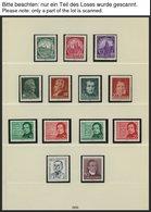 SAMMLUNGEN **, O, Zweifach Komplette Saubere Sammlung DDR Von 1956-90 (postfrisch Und Gestempelt) In 7 Lindner Falzlosal - Deutschland