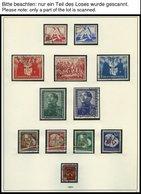 SAMMLUNGEN O, Gestempelte Sammlung DDR Von 1949-60 Im SAFE Falzlosalbum, Bis Auf Bl. 7 Und 8/9A,B Komplett, Fast Nur Pra - Deutschland