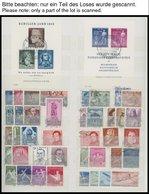 SAMMLUNGEN O, Gestempelte Sammlung DDR Von 1953-62 Im Einsteckbuch, Ab 1955 In Den Hauptnummern Fast Komplett, Dabei Ein - Deutschland