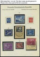 SAMMLUNGEN O, 1949-63, Fast Nur Gestempelte Sammlung DDR Mit Einigen Guten Ausgaben, Meist Prachterhaltung - Deutschland