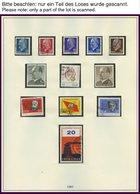 SAMMLUNGEN **, O, überwiegend Postfrische Sammlung DDR Von 1963-76 In 2 Lindner Falzlosalben, Bis Auf Wenige Werte Kompl - Deutschland