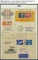 SAMMLUNGEN 1949-1990, Reichhaltige Briefsammlung In 11 Dicken Bänden, Meist FDC Und Portogerechte Einschreibbriefe, Auch - Deutschland