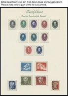 SAMMLUNGEN *,o,**,Brief , überwiegend Ungebrauchte Sammlung DDR Von 1949-65 Im Borek Album, Dabei Alle Marx-Blocks Geste - Deutschland