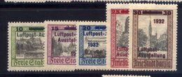 DANZIG, SET, NO.'S C31-C35, MLH - Dantzig