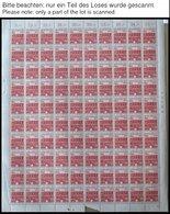 ENGROS 243,244,247 **, 1964/5, 15, 20 Und 60 Pf. Bauwerke, Je Im Bogen (100), Mi.Nr. 243 Mit Druckereichzeichen 12 Und N - Deutschland