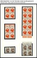 ENGROS 402-11 Paar **, 1971, Unfallverhütung, 9x In Waagerechten Paaren (in Einheiten), Pracht, Mi. 360.- - Deutschland