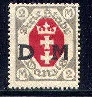 DANZIG, NO. O18, MH - Dantzig