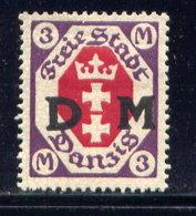 DANZIG, NO. O21, MH - Dantzig