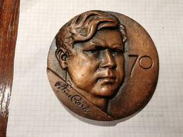Lithuania USSR Petras Cvirka, Soviet Writer, Medal 12 Cm - Jetons & Médailles