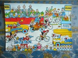 CPM TOUR DE FRANCE 1984 3 EME ETAPE  LOUVROIL VALENCIENNES   Pub BANANIA - Cyclisme
