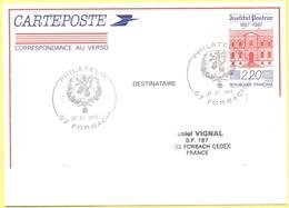 FRANCIA - France - 1988 - 2,20 Institut Pasteur + Special Cancel Philatélie - Carte Postale - Intero Postale - Entier Po - Biglietto Postale