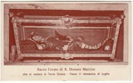Santino Antico San Donato Martire Da Torre Orsaia - Salerno - Religione & Esoterismo