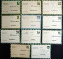 GANZSACHEN FP 7,9-13 BRIEF, 1959-69, 11 Ungebrauchte Funklotterie-Karten: FP 9 (3x), 11 (2x) Und 12 (3x), Pracht - Deutschland