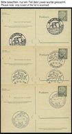 GANZSACHEN P 36 BRIEF, 1961, 8 Pf. Heuss Mit Postfachnummer Statt Postschließfachnummer, 9 Leer Gestempelte Karten Mit V - Deutschland