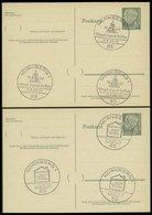 GANZSACHEN P 36 BRIEF, 1961, 8 Pf. Heuss Mit Postfachnummer Statt Postschließfachnummer, 5 Leer Gestempelte Karten Mit V - Deutschland