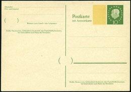 GANZSACHEN P 45I BRIEF, 1960, 10/10 Pf. Heuss, Breiter Fluoreszierender Beidruck, Ungebraucht, Pracht, Mi. 70.- - Deutschland