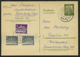 GANZSACHEN P 63 BRIEF, 1961, 10/10 Pf. Dürer, Gebraucht, Pracht, Mi. 50.- - Deutschland