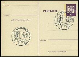 GANZSACHEN P 73 BRIEF, 1962, 8 Pf. Gutenberg, Postkarte In Grotesk-Schrift, Leer Gestempelt Mit Sonderstempel HAMBURG 1. - Deutschland