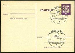 GANZSACHEN P 73 BRIEF, 1962, 8 Pf. Gutenberg, Postkarte In Grotesk-Schrift, Leer Gestempelt Mit Sonderstempel MÜNCHEN XI - Deutschland