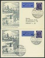 GANZSACHEN PP 4/3,3c BRIEF, 1953, Privatpostkarte 15 Pf. Posthorn, Der Schneider Von Ulm, Sonderstempel Schwarzgrau Und  - Deutschland
